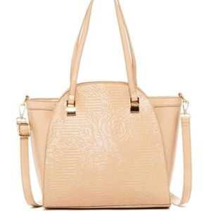 Pink Haley Wall of Rose Beige Tote